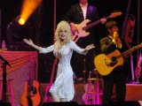 Dolly Parton on Stage at the SECC Glasgow Fotografisk tryk