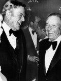 Frank Sinatra with John Wayne Fotografisk tryk