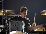 Drummer Javier Weyler Who Plays with the Stereophonics at Cardiff International Arena Lámina fotográfica