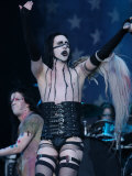 Singer Marilyn Manson on Stage at the Gig on the Green Festival at Glasgow Green Photographic Print