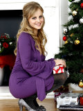 Coronation Street Actress Tina O'Brien Modeling Christmas Fashions Photographic Print