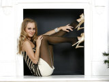 Coronation Street Actress Tina O'Brien Modelling Christmas Fashions Photographic Print