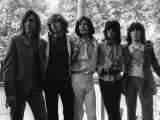 The Rolling Stones in 1969: Mick Taylor and Mick Jagger in Hyde Park Stampa fotografica