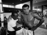 Muhammad Ali Heavyweight Boxer Getting Ready For His World Title Fight with Ken Norton Photographie