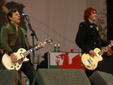 James Dean Bradfield and Nicky Wire, Manic Street Preachers at the Glastonbury Festival Fotografická reprodukce