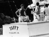Elizabeth Taylor Jan 1964 and Richard Burton Fishing in Mexico Photographic Print