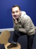 Bob Mortimer Comedian, Bob Mortimer in London Today, January 2002 Photographie