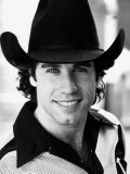 American Actor John Travolta on Set of Film Urban Cowboy, September 1980 Lmina fotogrfica