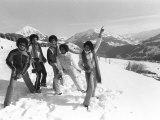 The Jackson 5 February 1979 Performing in Switzerland on the Slopes the Jackson Five Fotografisk tryk