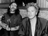 John Lydon British Pop Singer Punk and Lemmy 1987 Photographic Print