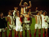 Scotland Players Carrying Billy Bremner on Shoulders Celebrate Qualification For World Cup Finals Photographic Print