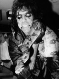 Alice Cooper American Rock Singer with Pet Snake 1986 Photographic Print