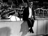 Composer Leonard Bernstein at Fairfield Hall During 1966 Rehearsal Concert Reproduction photographique