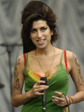 Amy Winehouse at the Glastonbury Festival June 2007. Glastonbury Festival Photographic Print