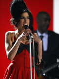 "Amy Winehouse Performs ""Rehab"" at 2007 Brit Awards from London's Earls Court on Valentines Day 2007 Photographic Print"