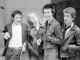 Sex Pistols Punk Rock Band in a London c.1976 Fotografisk tryk