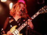 Tanya Donelly Pop Singer Guitarist of Group Belly 1995. on Stage at Glastonbury Festival Fotografie-Druck