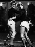 Kenny Dalglish and Mo Johnston Celebrate Goal 1984 Scotland V Spain at Hampden Photographie