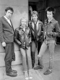 Sex Pistols Punk Rock Band in a London c.1976 Lmina fotogrfica