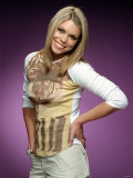 Pop Singer Billie Piper Poses Wearing Tiger Top April 2000 Fotografisk tryk