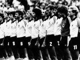 West Germany World Cup Football Team 1982 Photographic Print