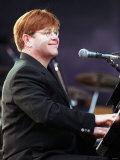 Elton John Pop Singer at Ibrox Concert June 1998 Photographic Print