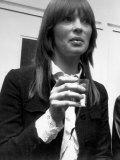 Christa Paffgen Alias Nico, Model, Singer in the Band Velvet Underground Fotoprint