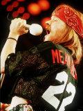 Axl Rose of Guns N Roses on Stage 1993 Fotografisk tryk