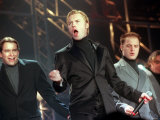 Boyzone Pop Group Ronan Keating Singing with Stephen Gateley and Shane Lynch at SECC Photographie