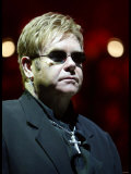 Elton John in Concert - July 2004 on His World Tour For His Firet Night in the UK at Wembley Arena Photographic Print