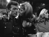 1968 Film Where Eagles Dare: Clint Eastwood, Mary Ure and Ingrid Pitt Fotografická reprodukce