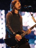 Dave Grohl - Foo Fighters Headlining the Main Stage on Saturday Night at the 2007 V Festival Fotografická reprodukce
