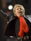 Rod Stewart Preforming at the Princess Diana Memorial Concert at Wembley Stadium Fotografisk tryk