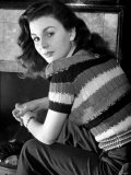 Jean Simmons Young Film Actress. January 1946 Fotografisk tryk