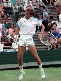 Wimbledon Tennis. John Lloyd. June 1988 Photographie