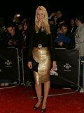 Claudia Schiffer on Red Carpet at Swarovski Sponsored Fashion Rocks Event Fotografisk tryk