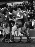 Liverpool 2 V. Southampton 0. F a Cup. Alan Hansen and Ian Rush Celebrate Liverpool Scoring Fotografie-Druck