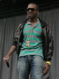 Kanye West on the Main Stage at the 2007 V Festival in Chelmsford Photographic Print