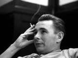 Derby Manager Brian Clough Ponders League Cup Morning After His Team&#39;s Success at Baseball Ground Photographic Print