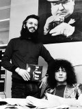 Marc Bolan and Ringo Starr Promoting Back Off Boogaloo 1972 Fotografisk tryk