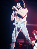 Freddie Mercury and Pop Group Queen in Concert Photographic Print
