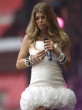 Fergie Performing at the Princess Diana Memorial Concert at Wembley Stadium Photographic Print