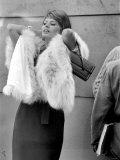 "Sophia Loren Filming ""The Millionairess"" at London Bridge, June 1960 Photographic Print"