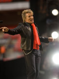 Rod Stewart Performing at the Princess Diana Memorial Concert at Wembley Stadium Photographic Print