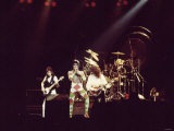 Queen Rock Group Freddie Mercury, Brian May, John Deacon and Roger Taylor Queen in Concert Fotografisk tryk
