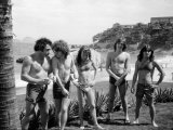 Aussie Metal Band AC/DC at the Seaside in Rio Papier Photo