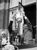 Tottenham Hotspur Team Captain Danny Blanchflower and Manager Bill Nicholson Hold FA Cup Trophy Photographic Print