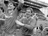 Alan Hansen. Chelsea 0 V. Liverpool 1. Division One Football May 1986 Fotografie-Druck