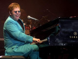 Elton John in Concert at the Odyssey Arena Belfast December 2002 Photographic Print