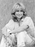 Felicity Kendal from the TV Program, Solo, Sitting in Grass, July 1982 Photographic Print